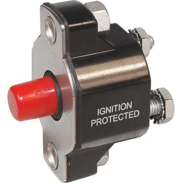 Blue Sea 2143 Medium Duty Push Button Reset-Only - 60A [2143]