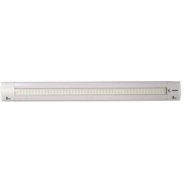"Lunasea 12"" Adjustable Angle LED Light Bar - w\/Push Button Switch - 12VDC - Warm White [LLB-32KW-01-M0]"