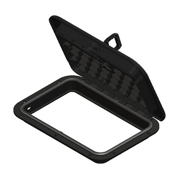 "Sea-Dog Triple Lock Rectangular Marine Hatch - 10"" x 14"" - Black [336525-3]"