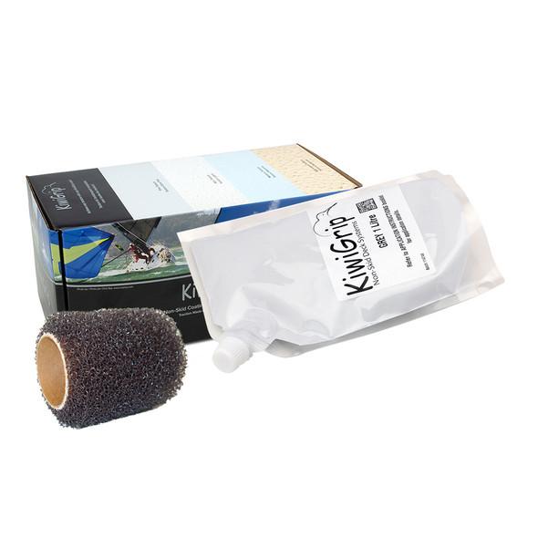 """KiwiGrip 1 Liter Pouch - Grey w\/4"""" Roller [KG-1GP-R]"""