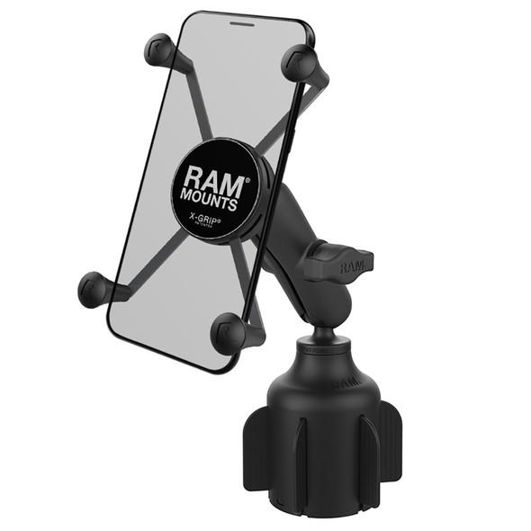 RAM Mount RAM X-Grip Large Phone Mount w/RAM Stubby Cup Holder Base [RAP-B-299-4-UN10U]
