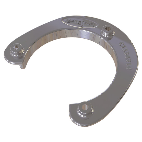 """Mate Series Stainless Steel Rod  Cup Holder Backing Plate f/Round Rod/Cup Only f/3-3/4"""" Holes [C1334314]"""