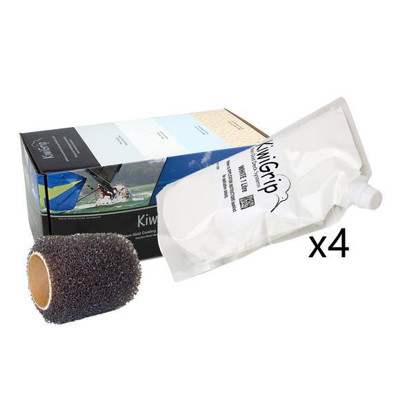 """KiwiGrip 4 - 1 Liter Pouches - White w/4"""" Roller [KG-4WP-R]"""
