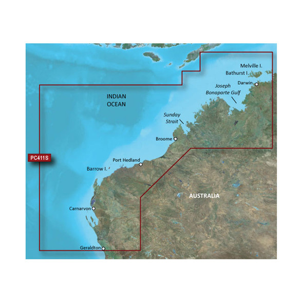 Garmin BlueChart g2 HD - HXPC411S - Geraldton To Darwin - microSD\/SD [010-C0869-20]