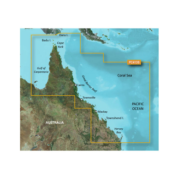 Garmin BlueChart g2 HD - HXPC413S - Mornington Island - Hervey Bay - microSD\/SD [010-C0871-20]