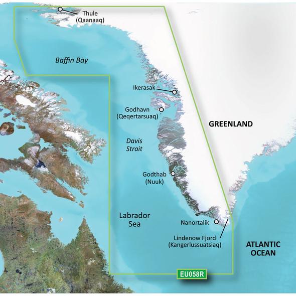 Garmin BlueChart g2 HD - HEU058R - Greenland West - microSD\/SD [010-C1001-20]