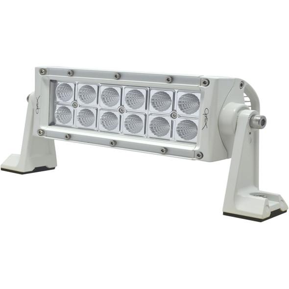 "Hella Marine Value Fit Sport Series 12 LED Flood Light Bar - 8"" - White [357208011]"