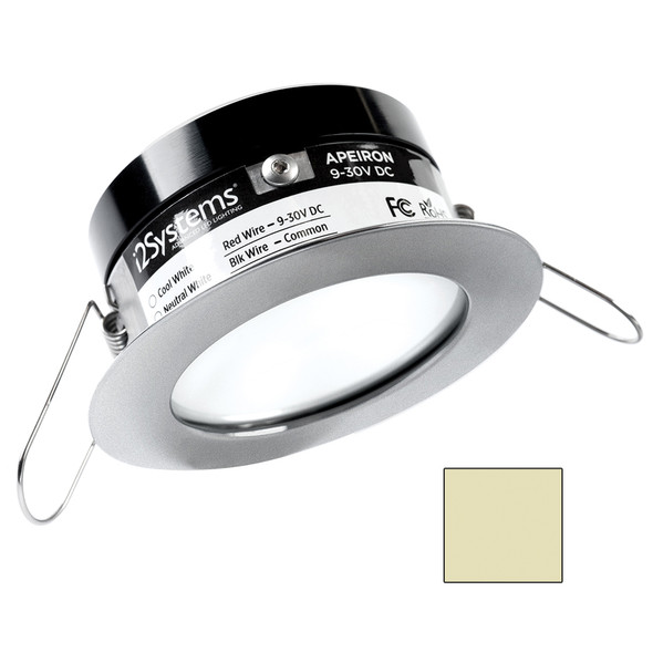i2Systems Apeiron PRO A503 - 3W Spring Mount Light - Round - Warm White - Brushed Nickel Finish [A503-41CBBR]