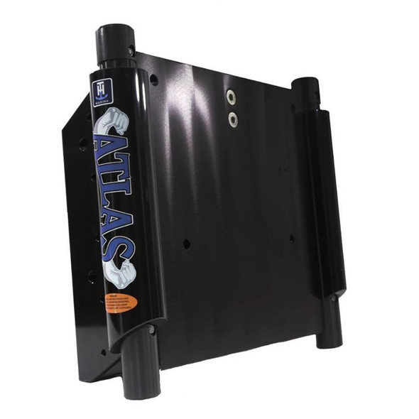 "T-H Marine ATLAS 4"" Set Back Hydraulic Jack Plate - Gloss Black Anodized [AHJ-4V-B-DP]"