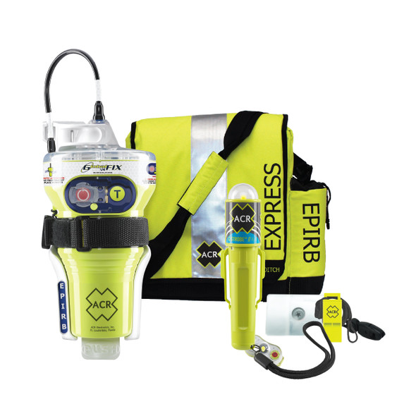 ACR GlobalFix V4 Category 2 w\/Rapid Ditch Bag, C-Strobe, H2O Signal, Mirror, Rescue Whistle Survival Kit [2348]