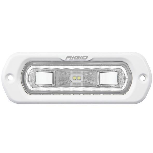 RIGID Industries SR-L Series Marine Spreader Light - White Flush Mount - White Light w\/White Halo [51200]