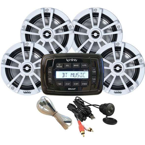 Infinity MPK250 Package w\/Four (4) White INF622 Speakers [INFMPK250-4W]