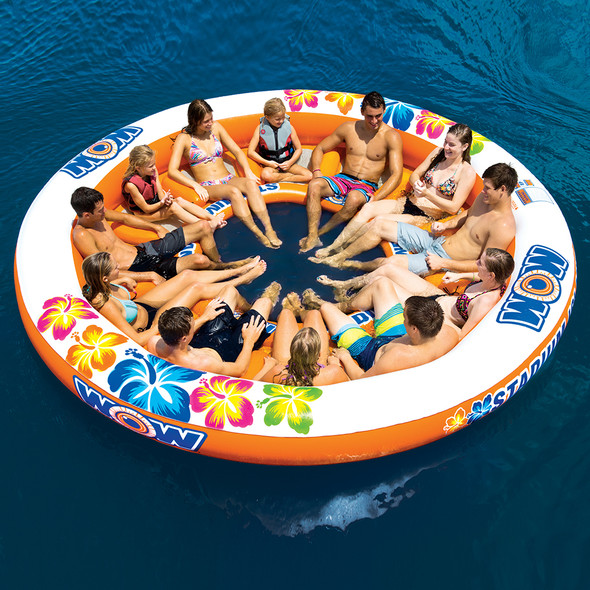 WOW Watersports Stadium Islander 12 Person Float [14-2090]