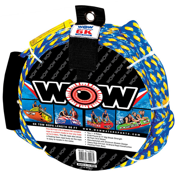 WOW Watersports 6K - 60 Tow Rope [11-3020]