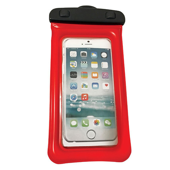 """WOW Watersports H2O Proof Phone Holder - Red 4"""" x 8"""" [18-5000R]"""