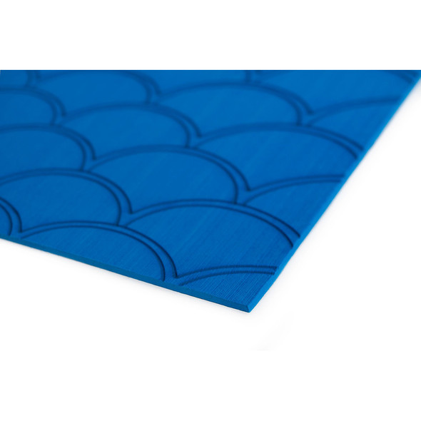 "SeaDek 40"" x 80"" 5mm Sheet Bimini Blue Brushed Fish Scale - 1016mm x 2032mm x 5mm [23875-83801]"