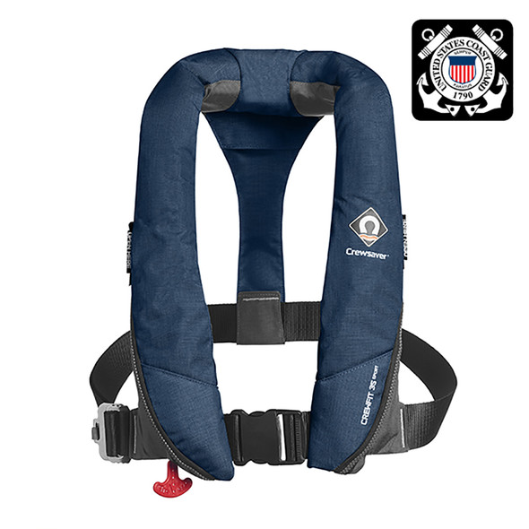 Crewsaver Crewfit 35 Sport USCG Automatic Life Jacket - Navy Blue [904054]