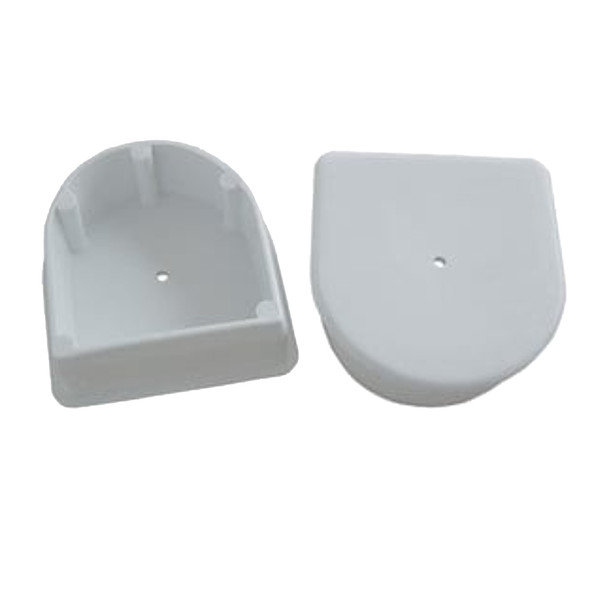 Dock Edge Large End Plug - White *2-Pack [DE1026F]