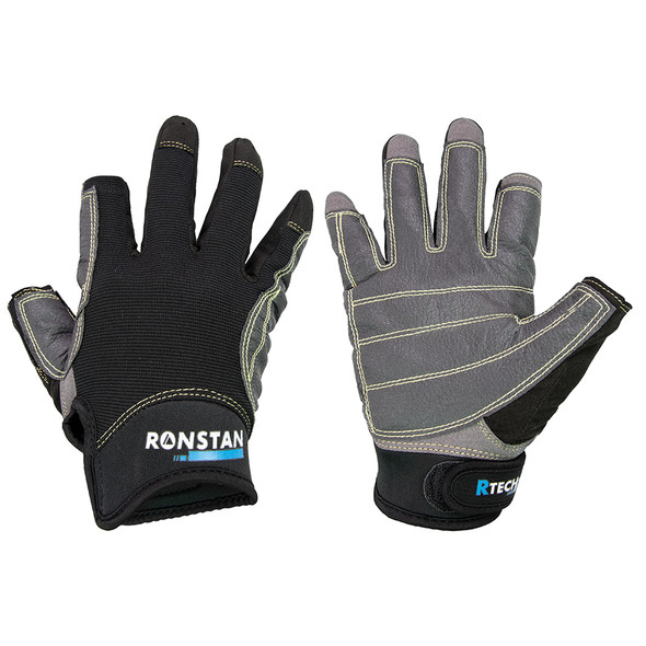 Ronstan Sticky Race Glove - 3-Finger - Black - M [CL740M]