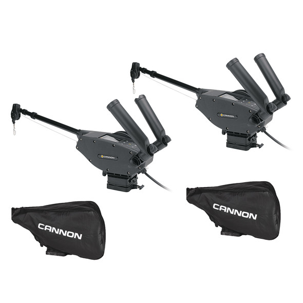 Cannon Optimum 10 BT Electric Downrigger 2-Pack w\/Black Covers [1902335X2\/COVERS]