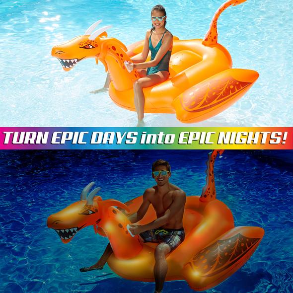 Aqua Leisure Oversized Light Up Scorch-the-Dragon - Jumbo [AZR14943]
