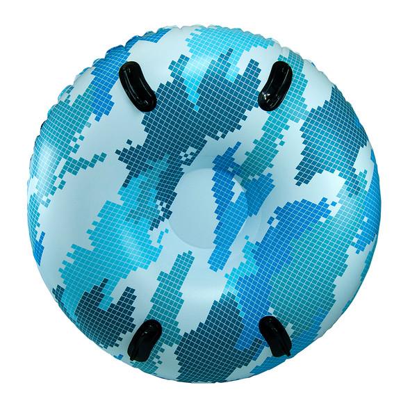 """Aqua Leisure 48"""" Pipeline Sno Mega 2-Person Sno-Tube - Blue Camo [PST10891]"""