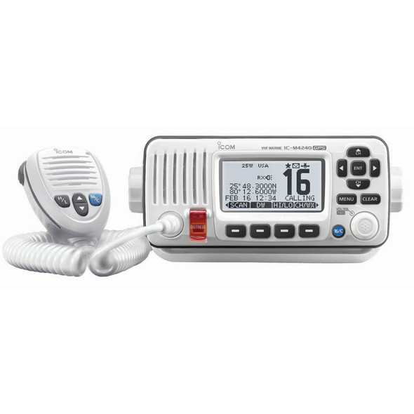 Icom M424G VHF Radio w\/Built-In GPS - White [M424G 42]