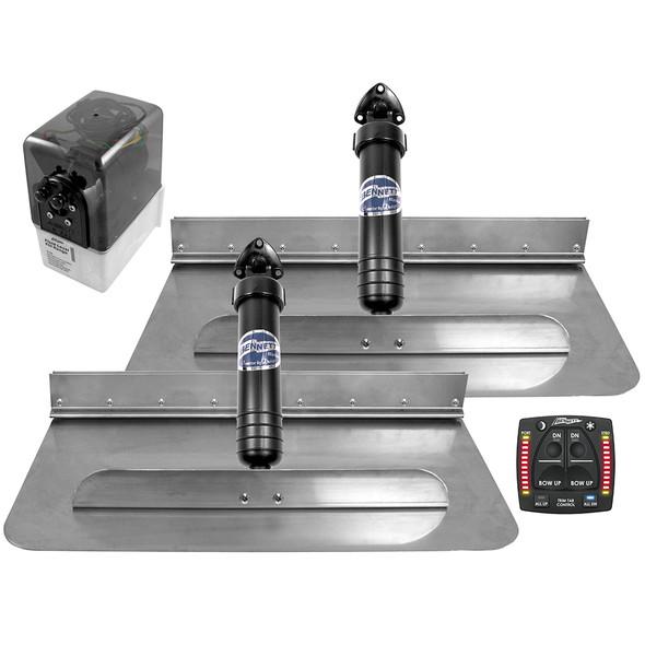 Bennett Marine 24x12 Hydraulic Trim Tab System w\/One Box Indication [2412OBI]