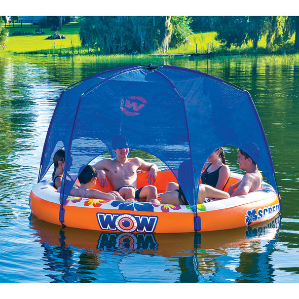 WOW Watersports Screenhouse Island Lounger - 6 Person Float [21-2090]