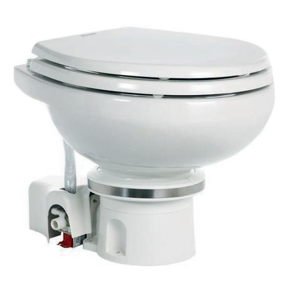Dometic MasterFlush 7120 White Electric Macerating Toilet w\/Orbit Base - Fresh Water [9108824451]