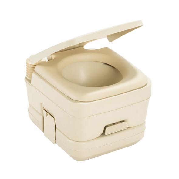 Dometic 964 MSD Portable Toilet w\/Mounting Brackets - 2.5 Gallon - Parchment [311196402]