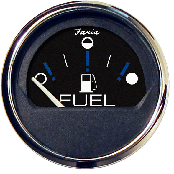 "Faria Chesapeake Black 2"" Fuel Level Gauge (Metric) [13721]"