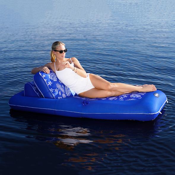Aqua Leisure Supreme Convertible Lounge Ripstop Hawaiin Wave [APL16997P2]