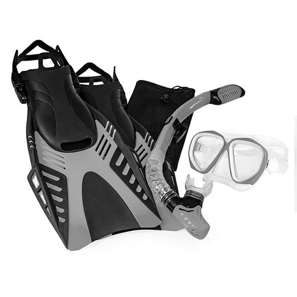 Aqua Leisure Dyna Adult 5-Piece Dive Set - Adult Size L\/XL Mens 8.5-11.5\/Ladies 9.5-12.5 [DPX18230S4L]