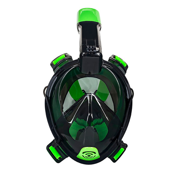 "Aqua Leisure Frontier Full-Face Snorkeling Mask - Adult Sizing - Eye to Chin  4.5"" - Green\/Black [DPM17478LS2]"