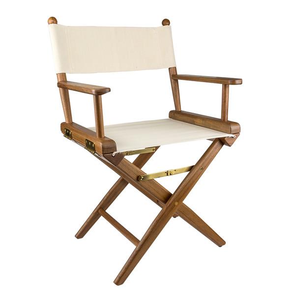 Whitecap Directors Chair w\/Natural Seat Covers - Teak [60044]
