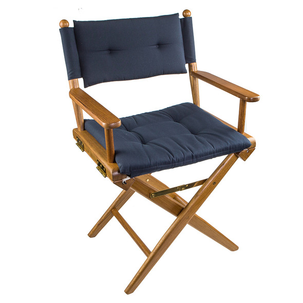 Whitecap Directors Chair w\/Navy Cushion - Teak [61042]