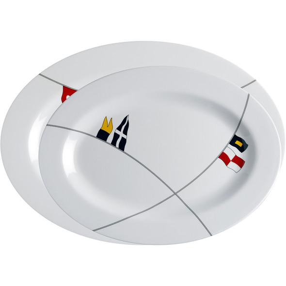 Marine Business Melamine Oval Serving Platters Set - REGATA - Set of 2 [12009]