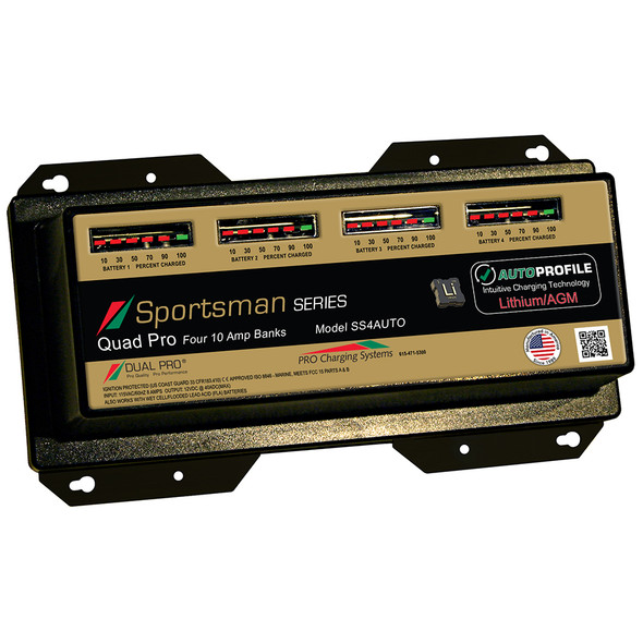 Dual Pro SS4 Auto 10A - 4-Bank Lithium\/AGM Battery Charger [SS4AUTO]