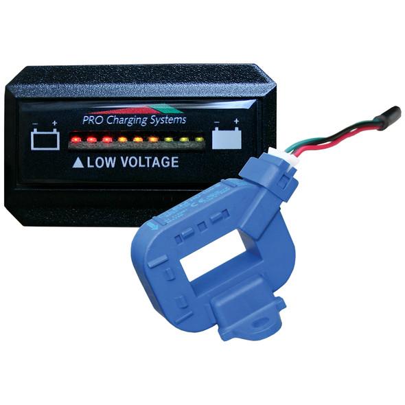Dual Pro Lithium Battery Gauge - Single - Rectangle Horizontal Display [BFGHLITH]