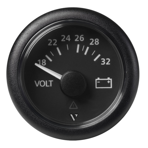 "Veratron 52mm (2-1\/16"") Viewline Voltmeter 18-32V - Black Dial  Bezel [A2C59512458]"