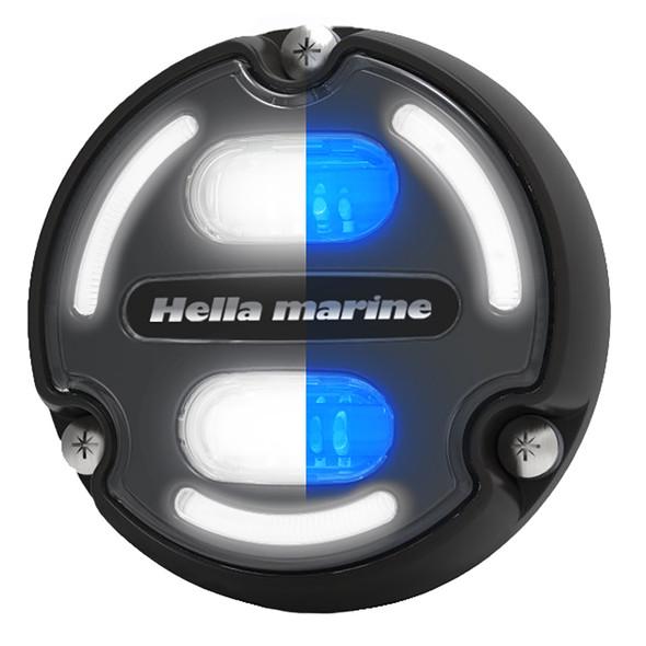 Hella Marine Apelo A2 Blue White Underwater Light - 3000 Lumens - Black Housing - Charcoal Lens w\/Edge Light [016147-001]