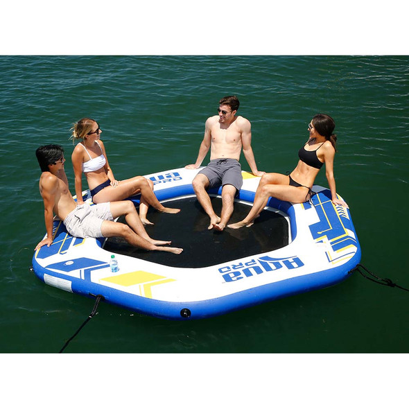 Aqua Leisure 10 Hexagonal Inflatable Island w\/Mesh Center [APR20922]