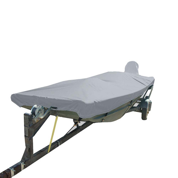 Carver Poly-Flex II Styled-to-Fit Boat Cover f\/Extra Wide 14.5 Open Jon Boats - Grey [74201EXF-10]