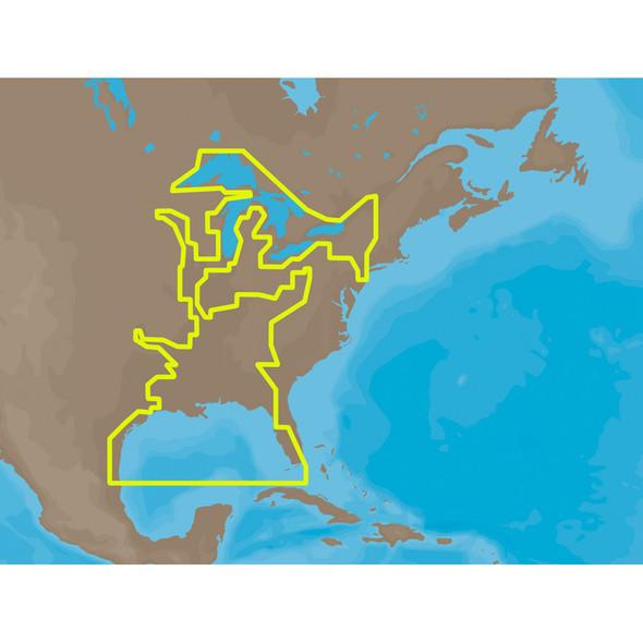 C-MAP MAX NA-M023 - U.S. Gulf Coast & Inland Rivers - SD Card [NA-M023SDCARD]