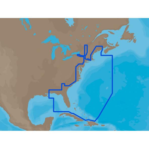 C-MAP MAX NA-M022 - U.S. East Coast & The Bahamas - SD Card [NA-M022SDCARD]