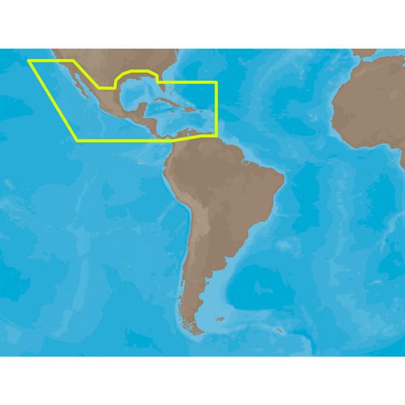 C-MAP MAX NA-M027 - Central America & The Caribbean - SD Card [NA-M027SDCARD]