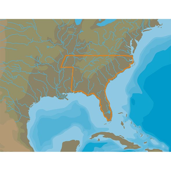 C-MAP 4D Lakes NA-D074 South East [NA-D074]