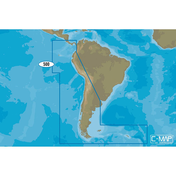 C-MAP 4D SA-D500 Costa Rica to Chile to Falklands [SA-D500]