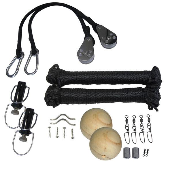 TACO Premium Rigging Kit Black f/1 Pair Outriggers [RK-0001PB]